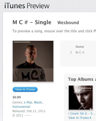 MC# on iTunes