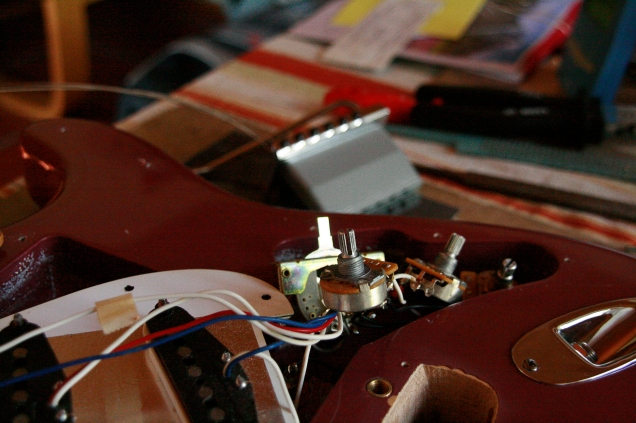 disassembled stratocaster IV