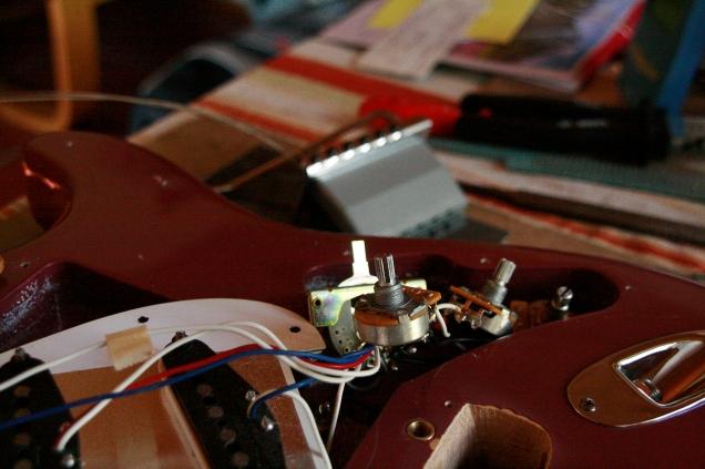 disassembled stratocaster IV
