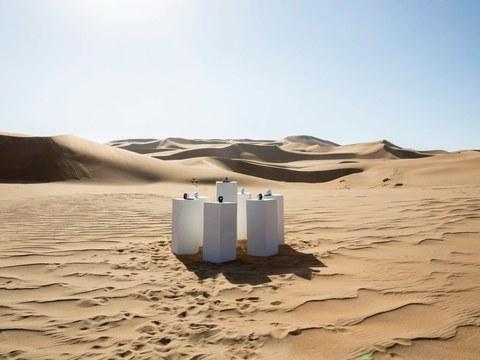 toto africa plays in an infinite loop in the Namib Desert